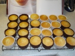 Bare cupcakes ready to be iced!