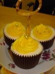 Yellow swirl cupcakes
