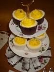 Yellow swirl cupcakes & gluten free rocky road