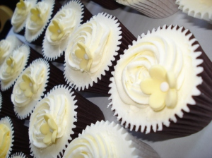 White rose and lemon flower