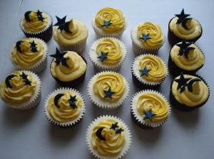 Sixteen yummy cupcakes