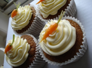 Mmm...carrot cake with cream cheese frosting