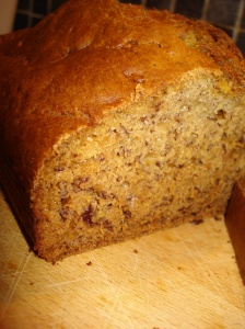 Banana loaf up close