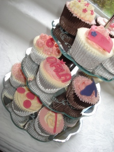 Chocolate cupcake tower