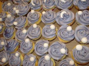 Crystal balls on mini cupcakes