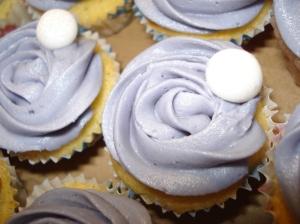 Mini cupcake close up