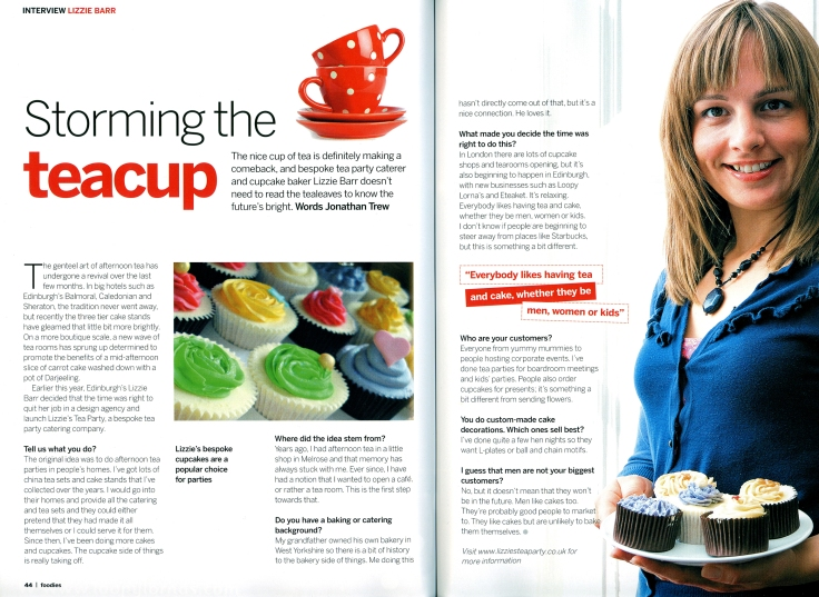Foodies Magazine article
