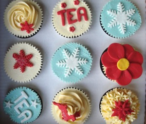 Christmas cupcake selection