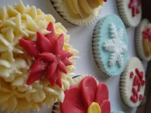 Fluffy flower cupcake