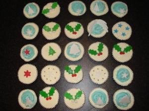 Festive Christmas cupcakes