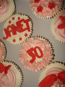 Pink and red cupcakes