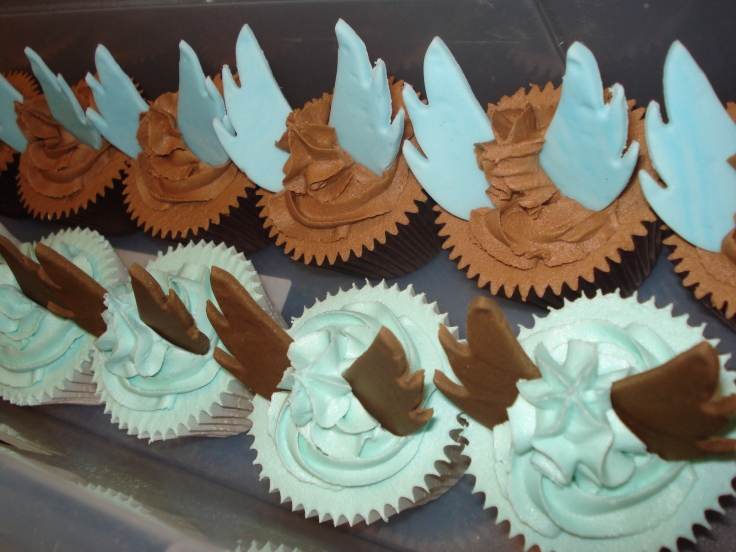 Coffee Angel branded cupcakes