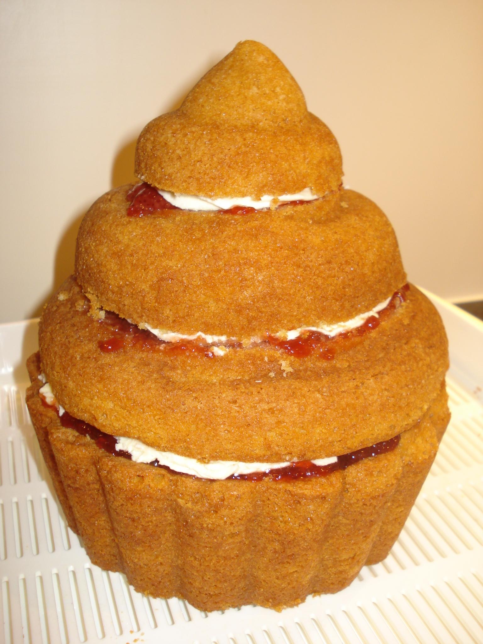 My giant birthday cupcake – CAKES BY LIZZIE, EDINBURGH