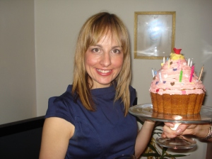 Me and my giant cupcake
