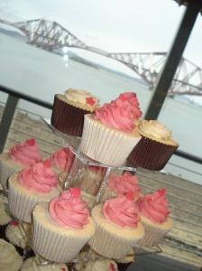 Vanilla and chocolate Wedding cupcakes