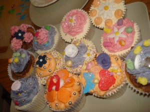 Birthday party cupcake creations