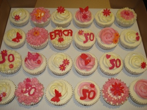 50th birthday party cupcakes
