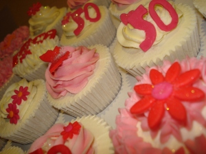 Flower and butterfly cupcakes