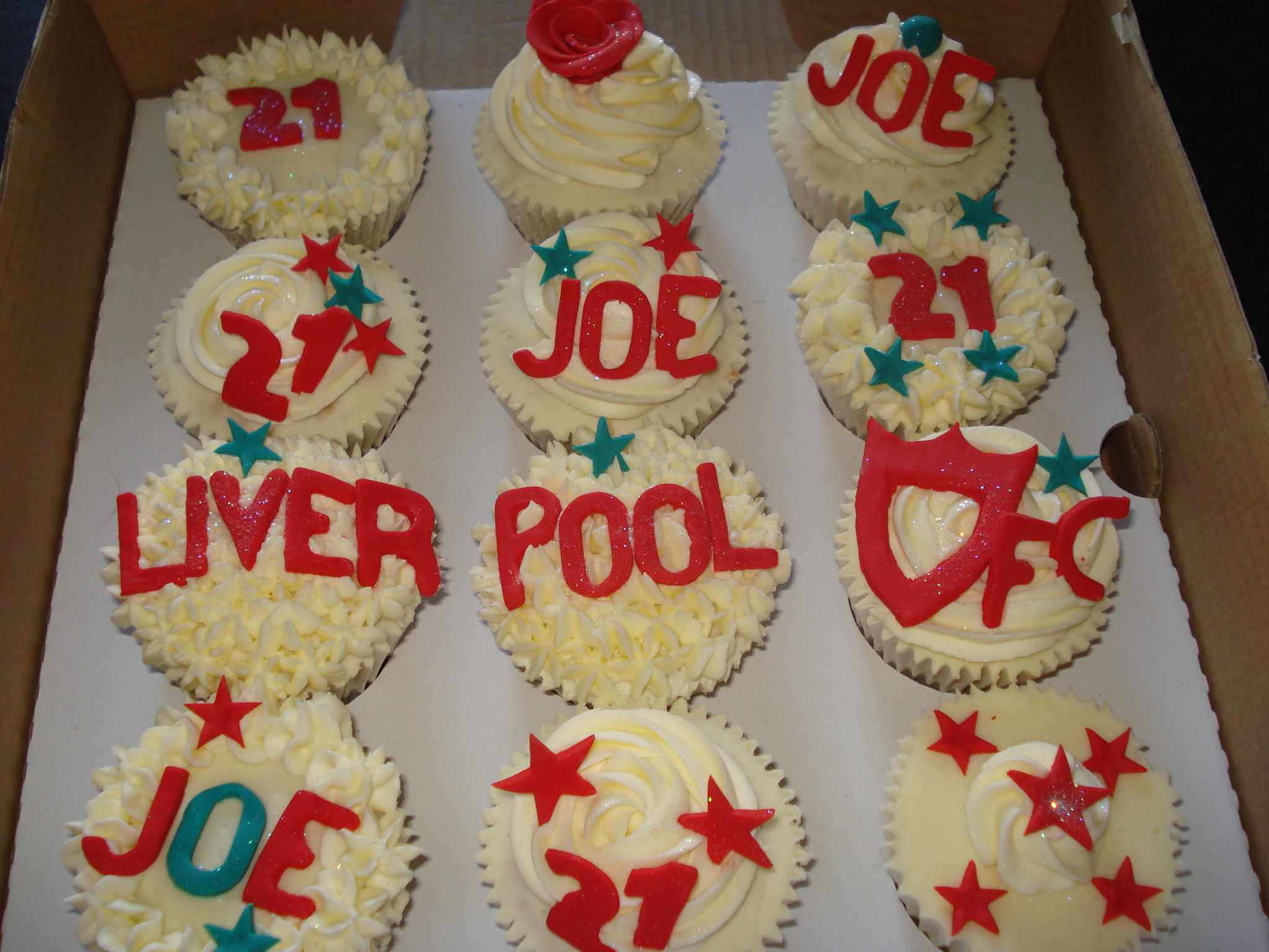 Liverpool supporter's 21st birthday cupcakes – CAKES BY ...