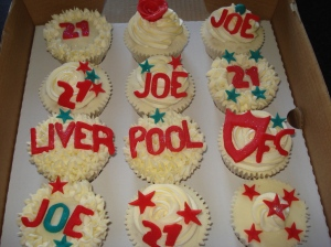21st birthday boy cupcakes