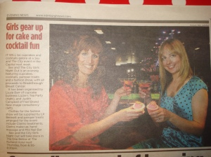 Lizzie Barr and Judith Campell in Evening News