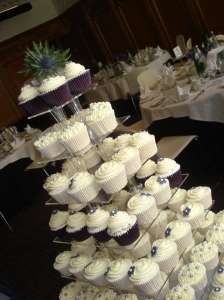 Cupcakes at the wedding breakfast