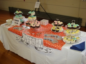 My cupcake stand in the Church Hall