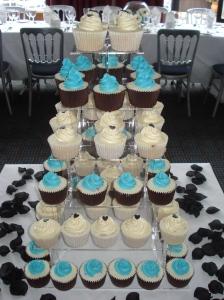 Cupcake tower of vanilla and chocolate
