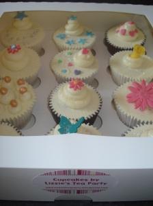 Beautiful box of thankyou cupcakes