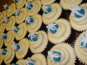 Tiffany & Co cupcakes for Laing Jewellers