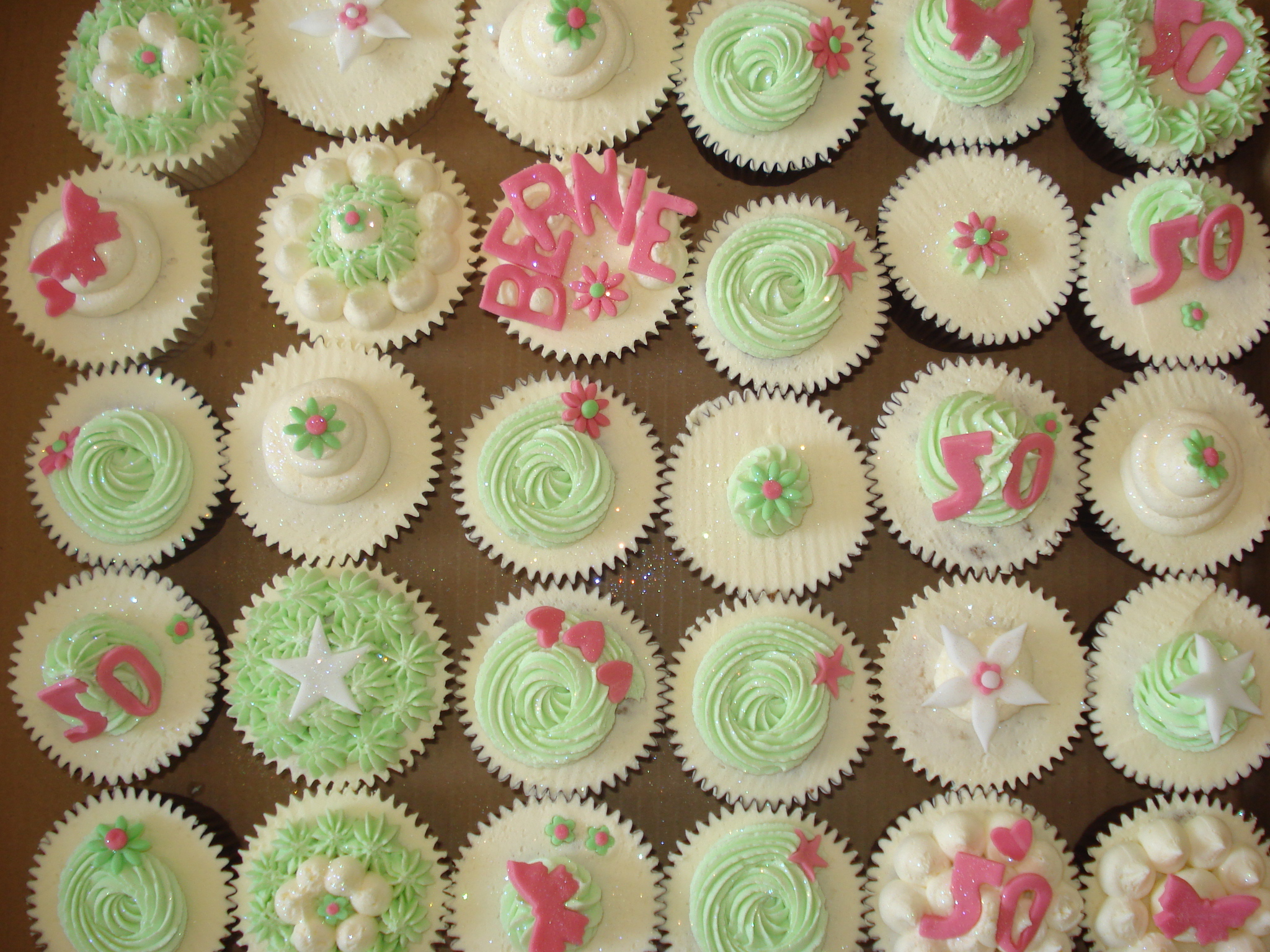 Lovely Summery 50th Birthday Cupcakes Cakes By Lizzie