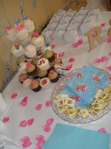 Beautiful cupcake favours