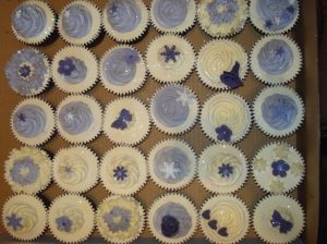 Lilac and purple themed cupcakes