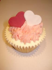 Double loveheart cupcake