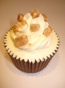 Toffee surprise cupcake