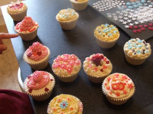 Cupcakes and decorations