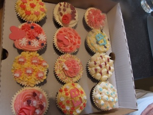Box of cupcakes to take away