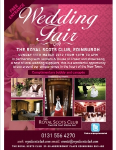 Wedding Fair at Royal Scots Club