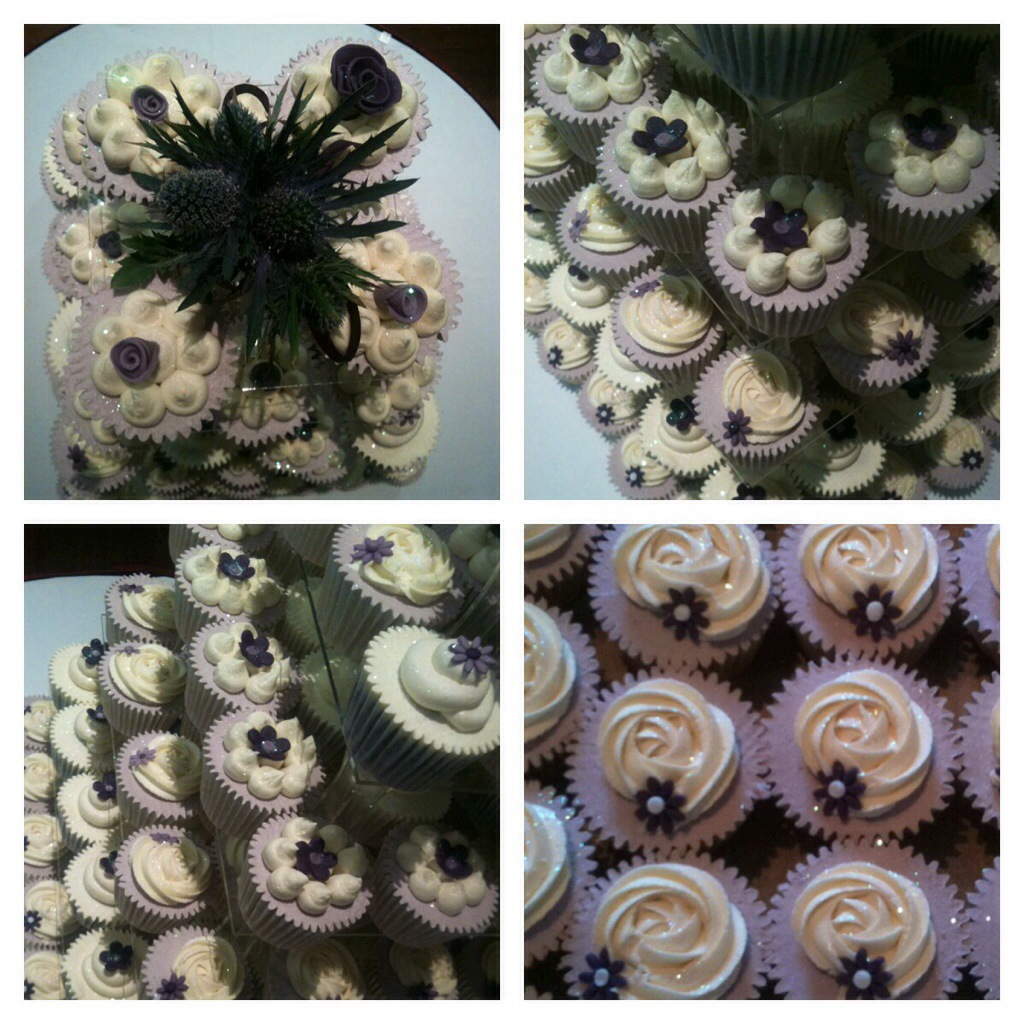 scottish wedding cakes edinburgh scottish thistle themed wedding cupcakes cakes by lizzie 19700