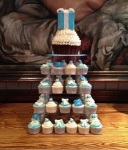 Tiffany Cupcake Tower by Lizzie