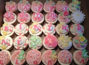 80th Birthday Cupcakes for an Afternoon Tea Party CAKES BY LIZZIE
