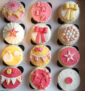 ... beautiful cupcakes for a baby shower in Edinburgh at the weekend