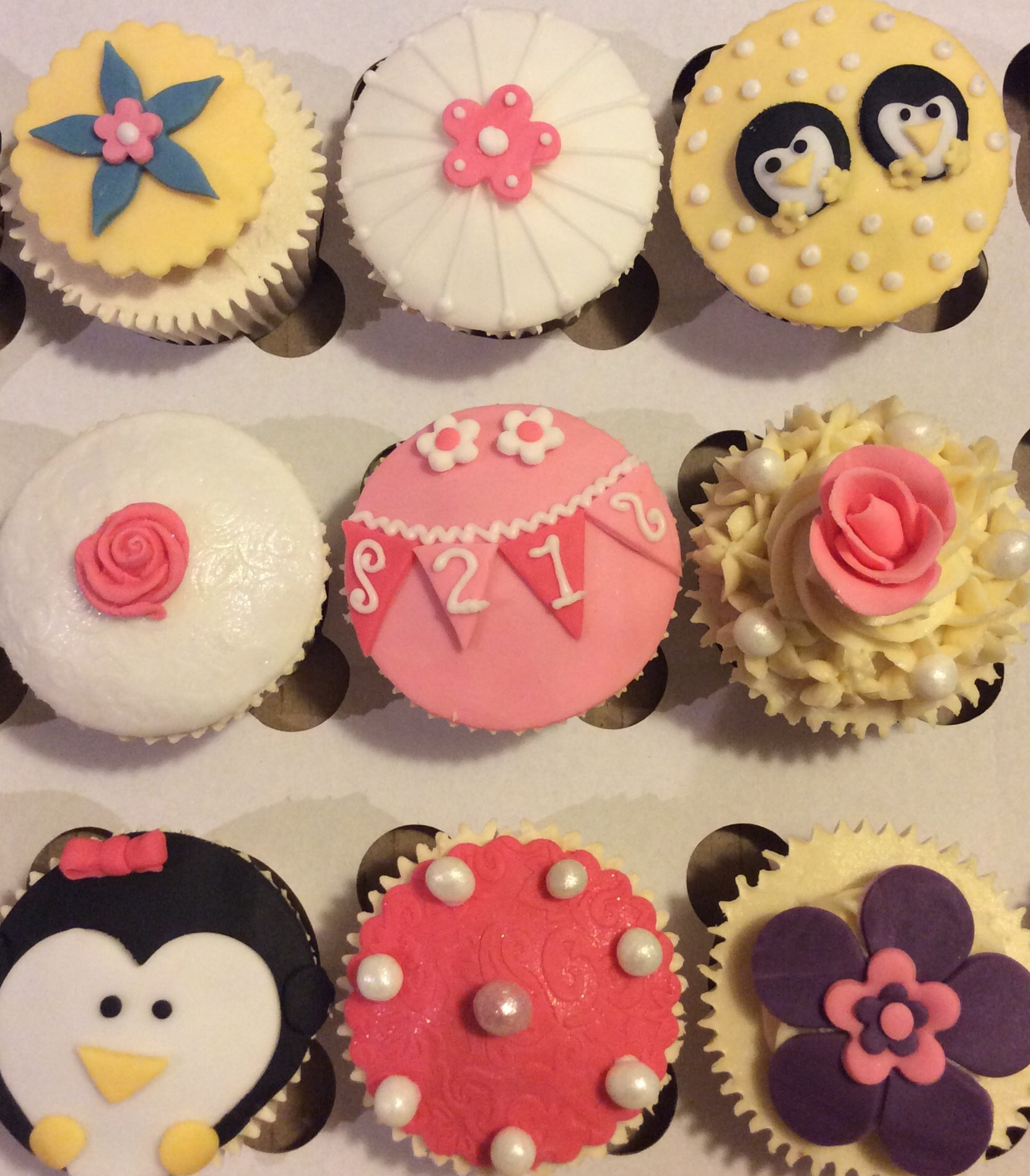 Pink, Purple and Penguin Cupcakes - CAKES BY LIZZIE, EDINBURGH