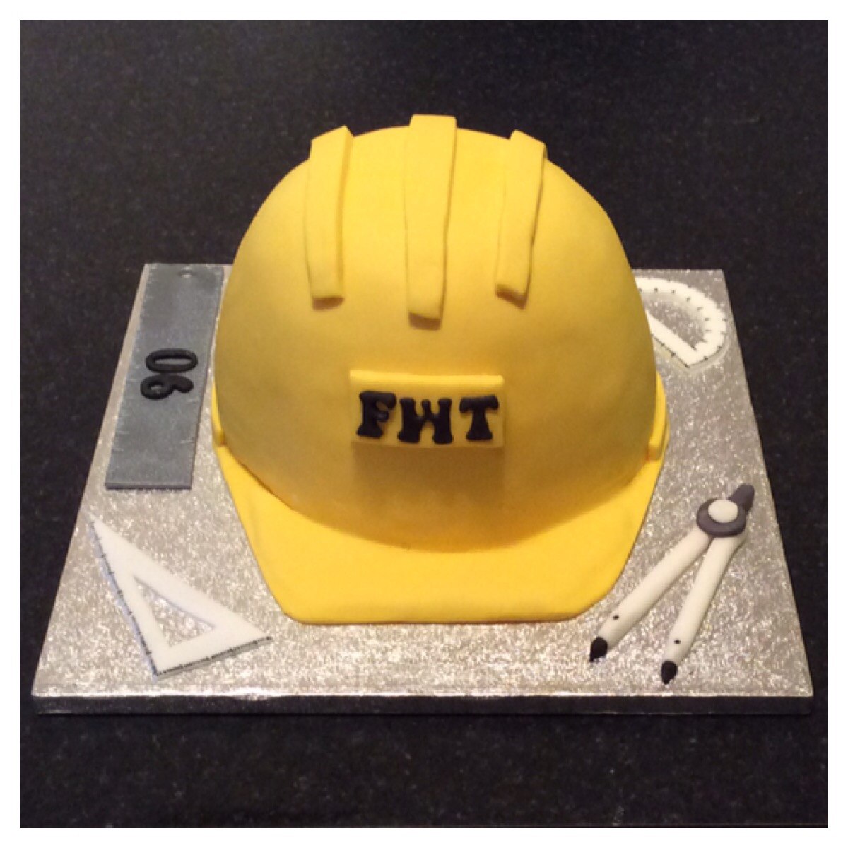 Hard Hat Cake by Lizzie