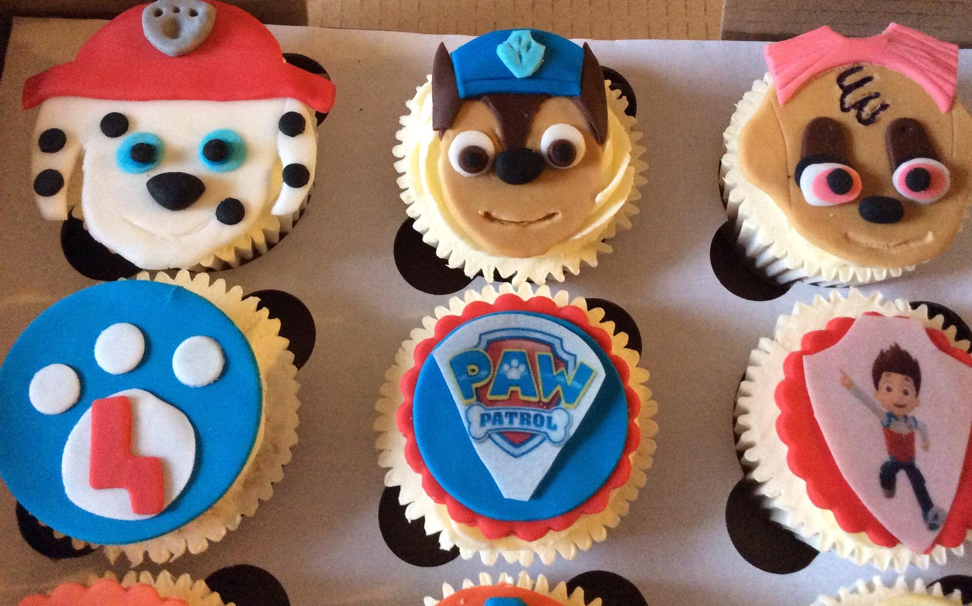 Wow Paw Patrol Cupcakes Cakes By Lizzie Edinburgh