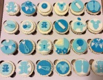 Baby Shower Cupcakes by Lizzie