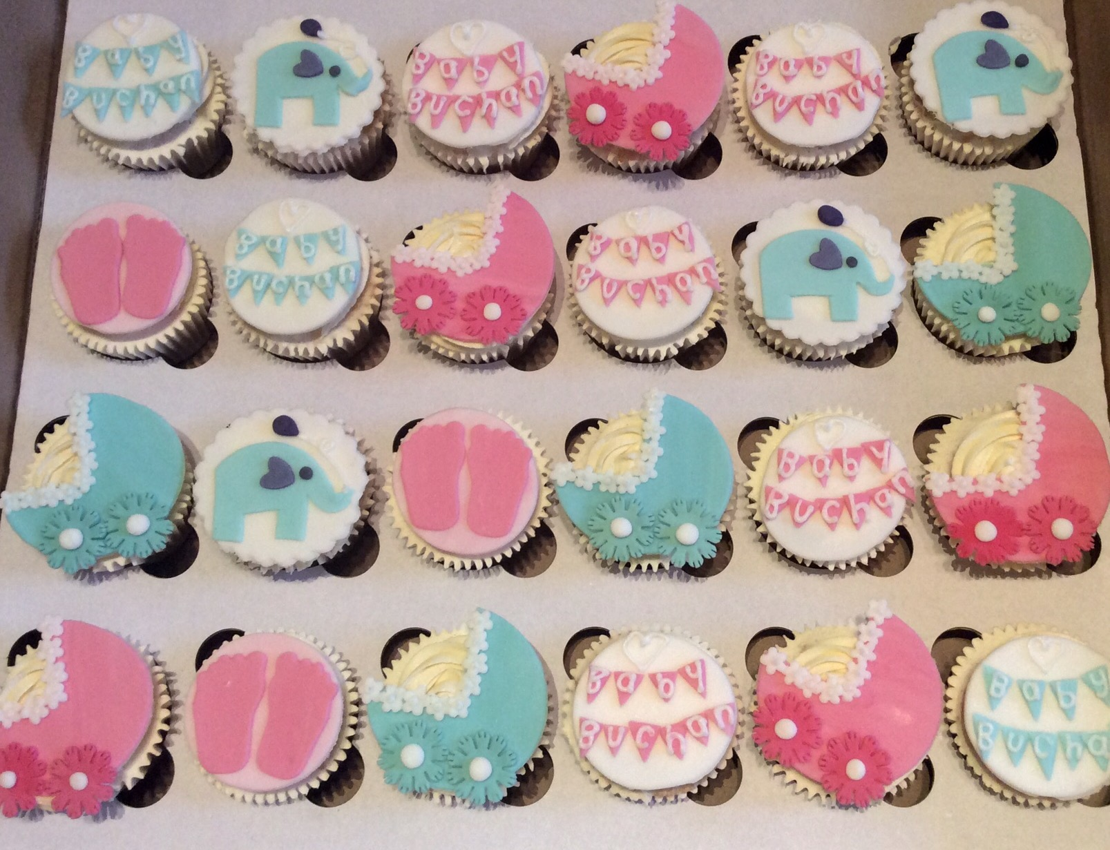 Baby Shower Cupcakes…rl or boy – CAKES BY LIZZIE EDINBURGH