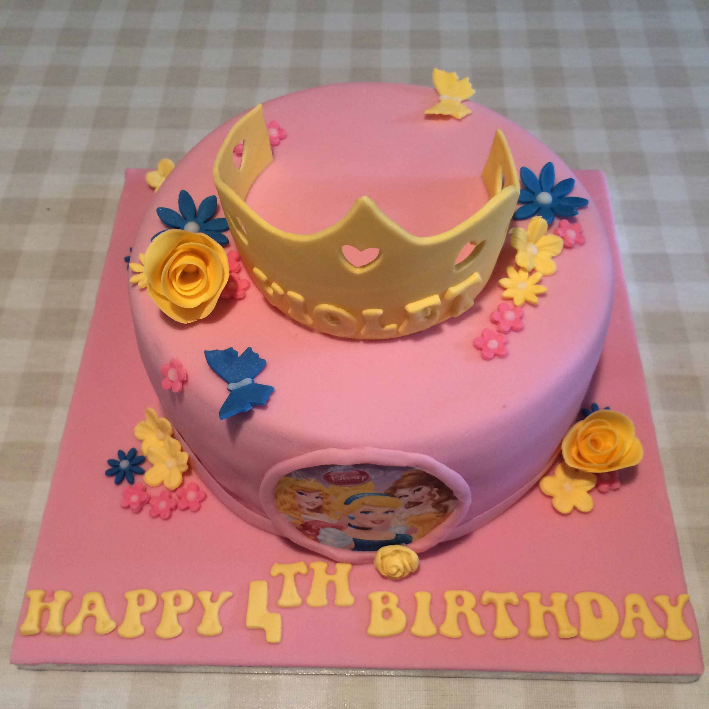 Amazing Pretty Princess Birthday Cake Cakes By Lizzie Edinburgh Personalised Birthday Cards Veneteletsinfo
