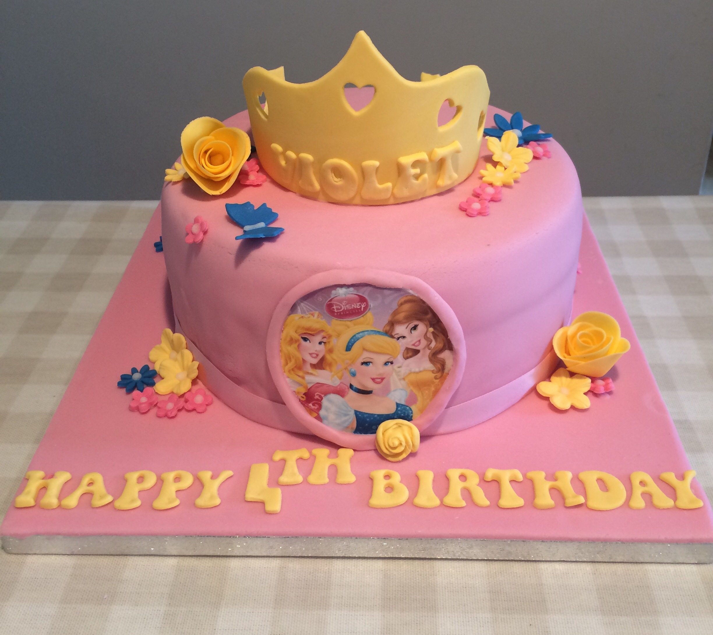 Prime Pretty Princess Birthday Cake Cakes By Lizzie Edinburgh Personalised Birthday Cards Veneteletsinfo