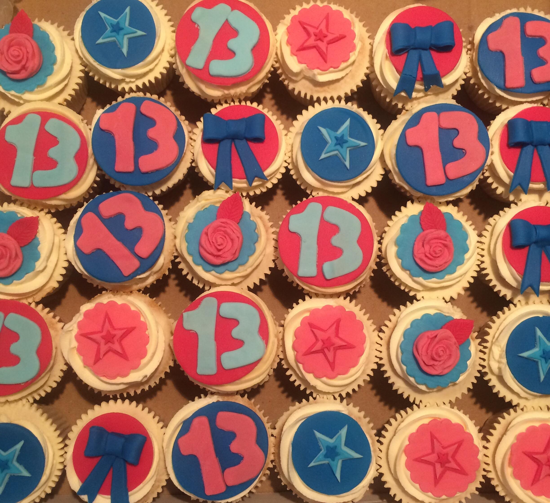 Girls 13th Birthday Cupcakes, pink and blue theme x \u2013 CAKES